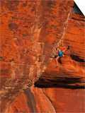 Rock Climbing, Red Rock, NV Posters af Greg Epperson