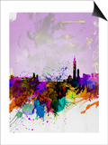 Taipei Watercolor Skyline Art by  NaxArt