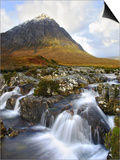 Buchaille Etive Mountain in Dawn Light, Glencoe, UK Prints by David Clapp