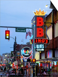 Beale Street at Night, Memphis, Tennessee, USA Prints by Gavin Hellier