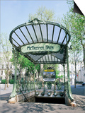 Abbesses Metro Station, Paris, France Prints by Roy Rainford