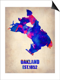 Oakland Watercolor Map Art by  NaxArt