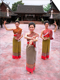 Traditional Thai Dancers, Old Chiang Mai Cultural Centre, Chiang Mai, Thailand, Southeast Asia Posters by Gavin Hellier