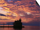 Sturgeon Bay Canal Pier Lighthouse, WI Prints by Ken Wardius