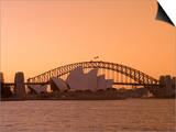 Opera House and Harbour Bridge, Sydney, New South Wales, Australia Posters by Sergio Pitamitz