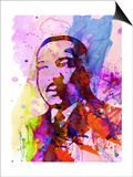 Martin Luther King Watercolor Prints by Anna Malkin