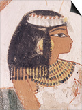 Wall Painting of Daughter of Nakht from Hunt Scene in the Tomb of Nakht Poster by Walter Rawlings