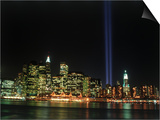 World Trade Center Memorial Lights, New York City Poster by Rudi Von Briel