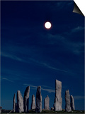 Standing Stones, Callanish, Isle of Lewis, Outer Hebrides, Scotland, United Kingdom Poster by Adam Woolfitt