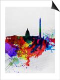 Washington DC Watercolor Skyline 1 Prints by  NaxArt