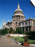 St. Paul's Cathedral, London, England, United Kingdom Poster by Charles Bowman