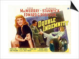 Double Indemnity, UK Movie Poster, 1944 Art