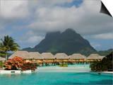 Pearl Beach Resort, Bora-Bora, Leeward Group, Society Islands, French Polynesia Art by Sergio Pitamitz