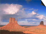 Rain Cloud Over Monument Valley, Utah, USA Prints by David Noton