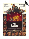 The Dirty Dozen, German Movie Poster, 1967 Print