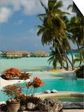 Pearl Beach Resort, Bora-Bora, Leeward Group, Society Islands, French Polynesia Posters by Sergio Pitamitz
