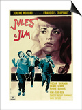 Jules and Jim, Italian Movie Poster, 1961 Posters
