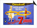The Seven Year Itch, German Movie Poster, 1955 Posters