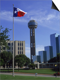 Reunion Tower, Dallas, Texas Posters by David Ball