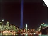 World Trade Center Memorial Lights, New York City Kunstdrucke von Rudi Von Briel