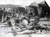 Beach at Deauville, August 15, 1930 Print