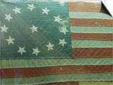 Oldest U.S. Flag, State House, Annapolis, Maryland, USA Art by Walter Rawlings