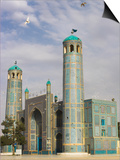 White Pigeons Fly Around the Shrine of Hazrat Ali, Mazar-I-Sharif, Afghanistan Prints by Jane Sweeney