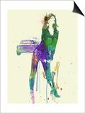 Camaro Girl Print by  NaxArt