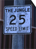 The Jungle 25 Mph Street Sign Print by Harvey Schwartz