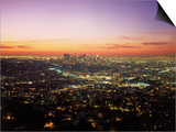 Sunrise Over Los Angeles Cityscape, CA Prints by Jim Corwin