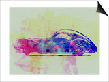 Bugatti Atlantic Watercolor 3 Prints by  NaxArt