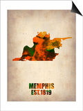 Memphis Watercolor Map Prints by  NaxArt
