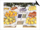 Fruit Displayed on a Stand, 1881 Prints by Gustave Caillebotte
