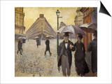 Sketch for Paris Street; Rainy Day, 1877 Posters by Gustave Caillebotte
