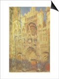 Rouen Cathedral at Sunset, 1894 Posters by Claude Monet
