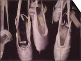 Worn Ballet Shoes Hanging in a Window Kunstdrucke von Jim Kelly
