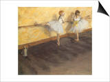 Dancers Practicing at the Bar, 1876 Prints by Edgar Degas