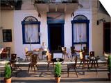 Cafe, Nafplion, Peloponnese, Greece Plakater af Oliviero Olivieri