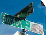 Buddy Holly Avenue, Lubbock, Texas, USA Prints by Ethel Davies