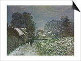 Snow at Argenteuil, 1874 Posters by Claude Monet