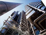 Lloyds Building, Architect Richard Rogers, City of London, London, England, United Kingdom Print by Walter Rawlings