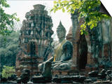 Buddhist Sculpture, Thailand Plakater af Mary Plage