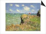 Cliff Walk at Pourville, 1882 Art by Claude Monet