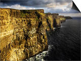 The Cliffs of Moher in Evening Light, Ireland Print by David Clapp