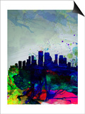 New Orleans Watercolor Skyline Posters by  NaxArt