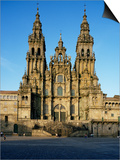 The Cathedral, Santiago De Compostela, Unesco World Heritage Site, Galicia, Spain Posters by Michael Busselle