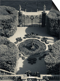 High Angle View of a Fountain in a Garden, Villa Carlotta, Tremezzo, Lake Como, Lakes Region, Lo... Prints by  Green Light Collection
