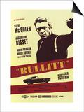 Bullittův případ / Bullit, 1968 (filmový plakát ve francouzštině) Umění