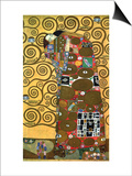 Fulfillment, One of the Kiss Panels, 1909 Prints by Gustav Klimt