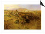 The Buffalo Hunt No.2, 1900 Prints by Charles Marion Russell